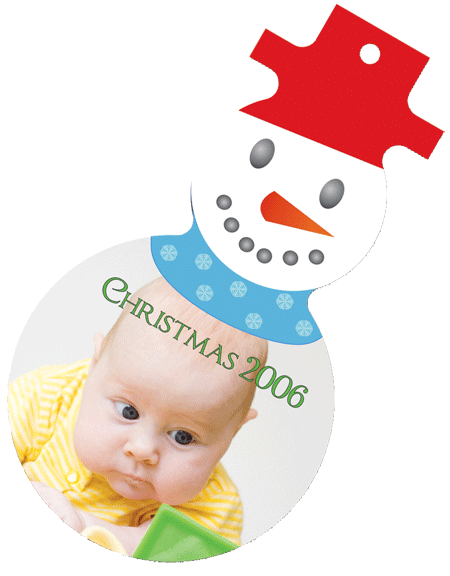 Snowman Ornaments with Baby