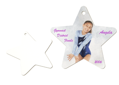 Star Ornament with Girl and blank star ornament