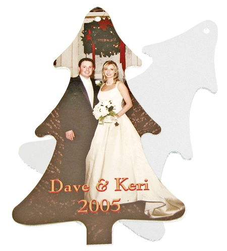 Tree Ornament with Couple - Front and Back