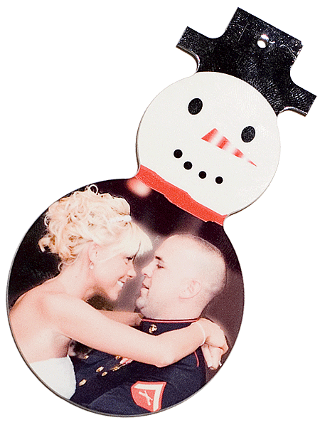 Snowman Ornament with Couple