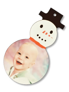 Snowman Ornament with newly married couple