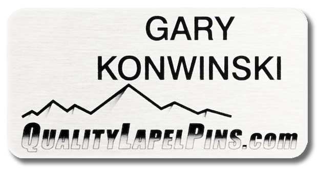 Gary Konwinski QualityLapelPins.com Name Tag